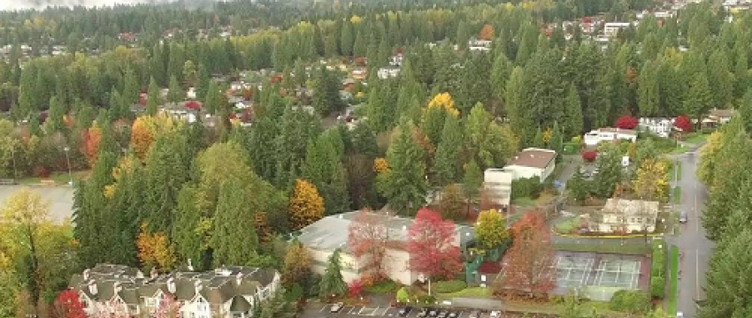 Aerial view of the Delbrook Lands