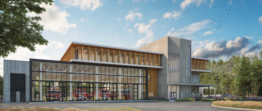 Rendering of the new fire and rescue centre in Maplewood