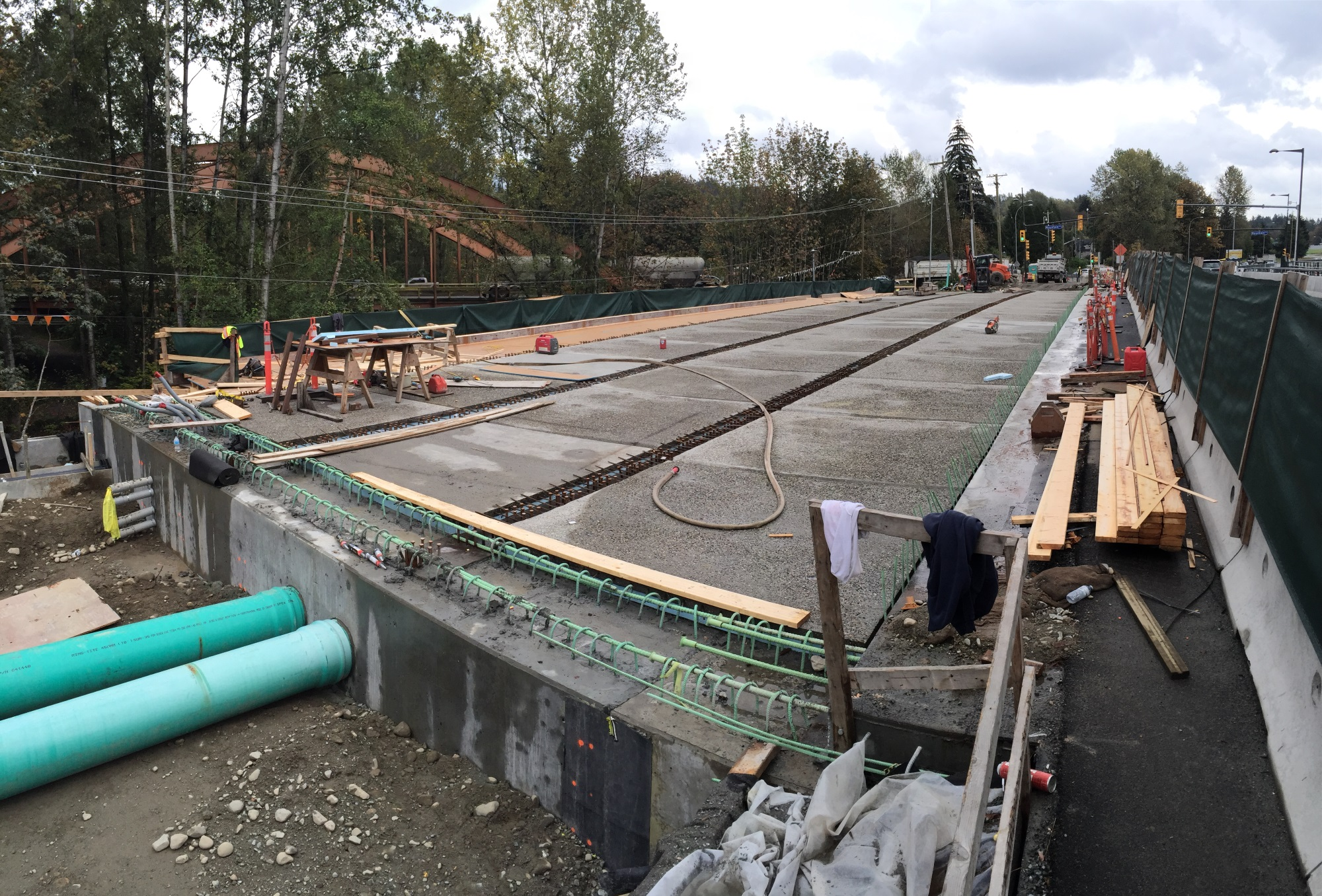 Prestressed Concrete Sidewalks : Keith road bridge district of north vancouver